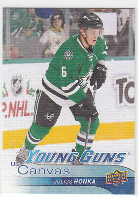 16/17 Ud Series 2 Canvas Julius Honka Young Guns Rc Sp Rookie #238