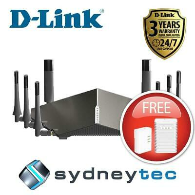 New D-Link COBRA DSL-5300  Modem Router Bonus DHP-W313AV  PowerLine