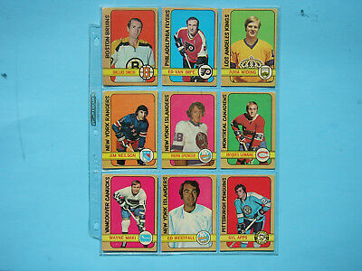 Lot 18 1972/73 O-Pee-Chee Hockey Cards Vg Nice Brian Spencer Jacques Lemaire Opc