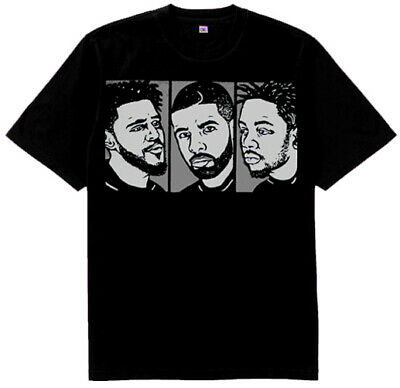 New J cole Drake Kendrick Lamar shirt match air Jordan 6 Retro Black Infrared
