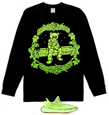 New Long Sleeve Rap  Dropout Bear tshirt Yeezy Boost 350 V2 Semi Frozen Yellow
