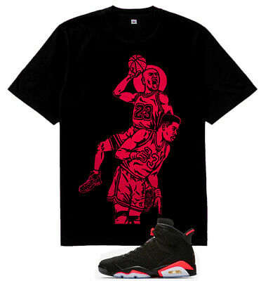 New MJ Ewing Posterized vi tshirt match air Jordan 6 Retro Black Infrared 2019