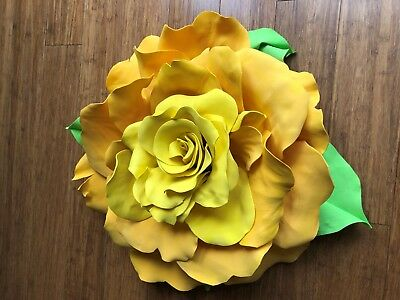 Handmade Giant Flower 50cm 2tone Yellow EVA durable special events or home decor