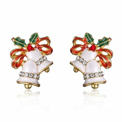 Christmas Xmas Bell Ear Earrings Stud Womens Lady Jewelry Party New Year Gift