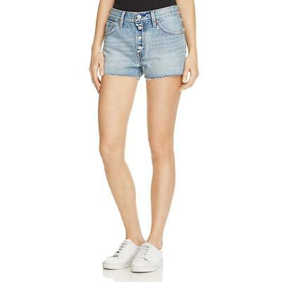 ac5179751c Levi's Womens 501 Blue Denim Frayed Hem Light Wash Denim Shorts 26 BHFO 5679