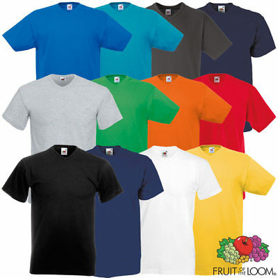5er Pack Fruit of the Loom Valueweight V-Neck T-Shirts versch Farben Sets Größen