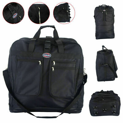"""40"""" Rolling Wheeled Duffel Bag Spinning Luggage Spinner Suitcase Black New"""