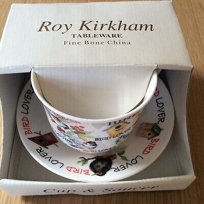 Roy Kirkham  Bird Lover Breakfast Cup & Saucer  Fine Bone China  Boxed