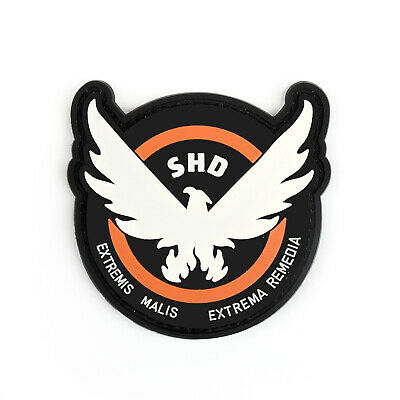 9CMTom Clancy's The Division Agent SHD logo PVC Hook Loop patch badge cosplay AT