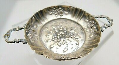 Vintage 800 Silver German Two Handled Trinket / Pin Dish - Emil Hermann HW ?