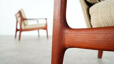 Eugen Schmidt 2x Teak Lounge Chair by Soloform, Germany Mid Century Modern