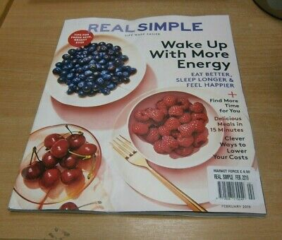 Real Simple magazine FEB 2019 Ways to Lower your Costs, Wake up with Energy &