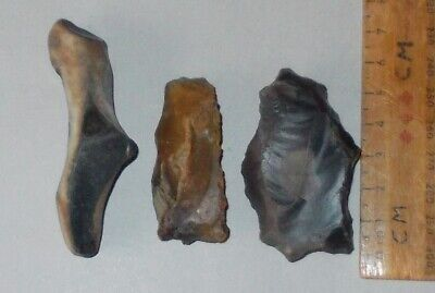 Neolithic British Flint  Scrapers And Borer