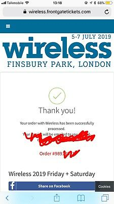 Wireless 2019 Tickets - Friday And Saturday Multi Day Ticket SOLD OUT !!!