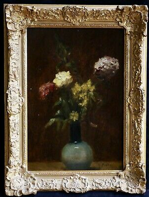 Fantin Latour - Signed French Oil Still Life Flowers - For Research