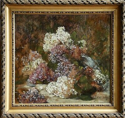 GEORGES JEANNIN (1841-1925) FRENCH OIL  FLOWERS to £49,000 SIGNED
