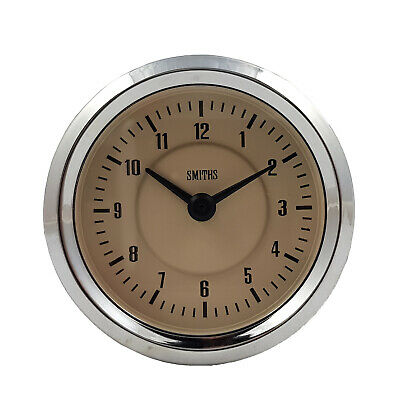 Smiths Time Clock Gauge 60mm in Magnolia For Classic Cars GAE128/60MG