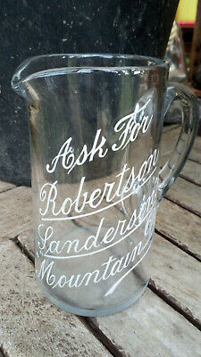 Victorian Pontilled and enamelled Whisky Jug ROBERTSON SANDERSON'S MOUNTAIN DEW