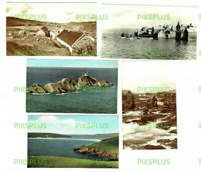 Old Postcards Shetland Islands Scotland Vintage 1950S Note Edges Trimmed
