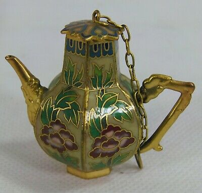 Vintage Miniature Cloisonne Coffee Pot