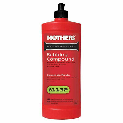 Mothers Polish 81132 32 Oz Bottle of Professional Rubbing Compound for Exteriors