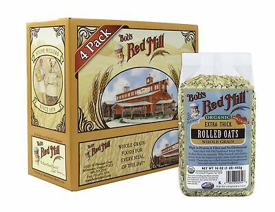Bob's Red Mill Organic Extra Thick Rolled Oats, 16-ounce (Pack of 4) EXP 09-2019