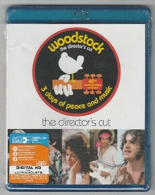 Woodstock: Three Days of Peace and Music -Director's Cut Blu-ray Disc - NEW