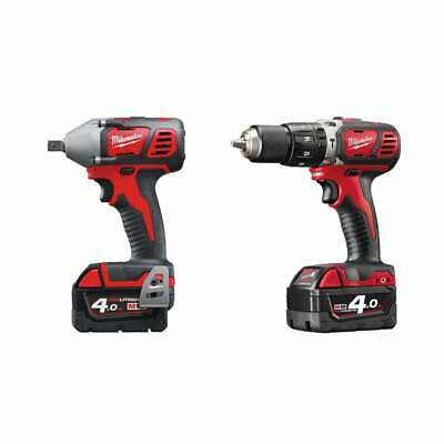 Milwaukee M18BIW12 + M18BPD 18v Twin Pack 2 x 4.0ah Batteries + Charger + Case