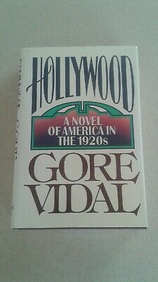 """Autographed Gore Vidal First Edition Hardcover Book """"hollywood"""" America 1920's"""