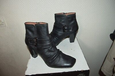 4113d4f2c9548 Bottes Bottine Cuir Hispanitas Taille 40 41 Leather Boots Botas Stivali Tbe