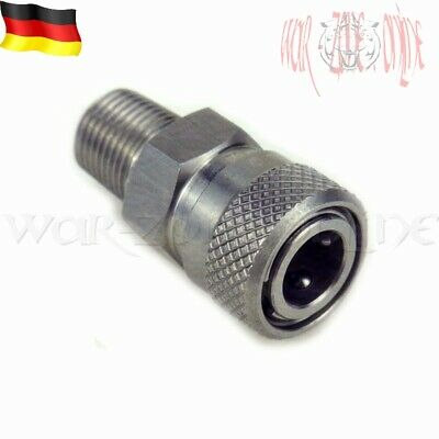 PCP Paintball Pneumatic Quick Coupler 8mm Schnellkupplung Male Thread M10 INOX