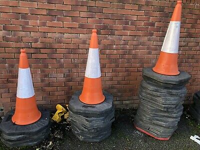 Road Traffic Cones Full Size Orange&white 1 M