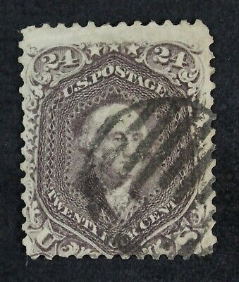 CKStamps: US Stamps Collection Scott#78 24c Washington Used Lightly Crease $350