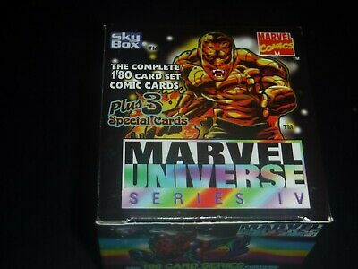 1993 Sky Box Marvel Universe Series IV 180 Card Set Marvel Comics New