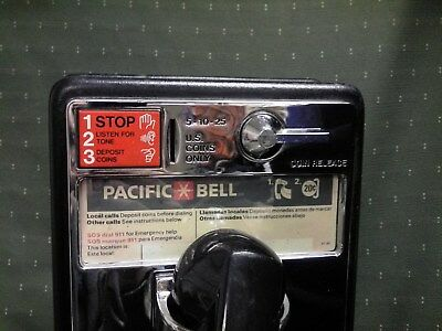 ATT Western Elec. PACBELL California,Payph,Works in Home Complete Original Parts
