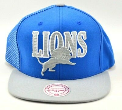 80abe0ede74 NFL Detroit Lions Vintage Mitchell and Ness Snapback Wool Cap Hat NEW NOS