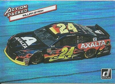 William Byron 2019 Donruss Racing Action Packed Holographic Parallel Insert # A1