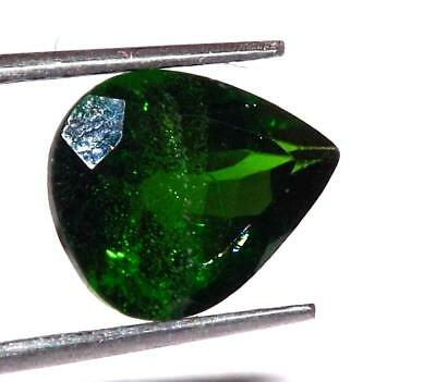 Rare 1.50 ct Natural Untreated Russian Chrome Diopside 9 x 7 mm Gem #bcd04