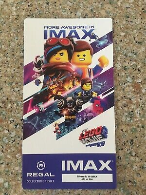 THE LEGO MOVIE 2 The Second Part Regal Collectible IMAX Ticket FREE SHIPPING