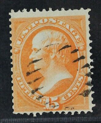 CKStamps: US Stamps Collection Scott#140 15c Webster Used Faint Grill CV$3600