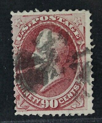 CKStamps: US Stamps Collection Scott#144 90c Perry Used Lightly Crease CV$2500