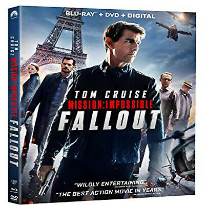 Mission Impossible  Fallout [Blu-ray+DVD+Bonus Disc] New and Sealed