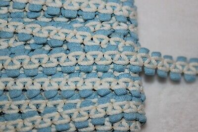"""$1 yard baby blue white sewing non stretch upholstery gimp BRAID trim 1/2"""""""