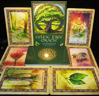 New! Celtic Tree Oracle Cards & Book Sacred Knowledge Hildalgo Open For Pics