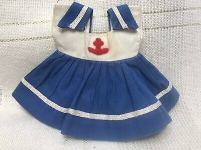 1954 Vintage Doll CLOTHES - DRESS, SAILOR, Vogue Ginny, My Kinder Crowd #22
