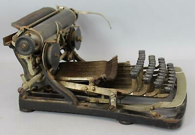 Original Antique 19thC Pittsburg-Visible Typewriter Pittsburg Writing Machine Co