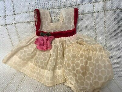 1955 Vintage Doll CLOTHES - DRESS & Panties, Vogue Ginny(tag), Muffie, Ginger 8""