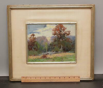 Antique CAMILLO ADRIANI New England Autumn Impressionist Landscape Oil Painting