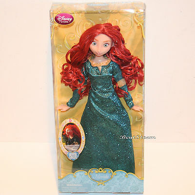 "Disney Store Brave Princess Merida Toy Doll Classic Figure 12/"" w// Ring New"