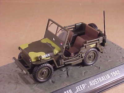Editions Atlas # Atl 7123 128 1/43 Willys MB Jeep, 7° da Bambino Divisione